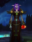 lvl 82. I liked the cloth leveling sets in Cataclysm and have kept the robe and shoulders in the bank.