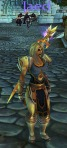 Mog: At first glance I thought Jaed had a paladin vibe, but she is a hunter. Her skin and hair color really makes the Lord's set look good.