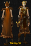 Tabard - I like the overall styling - hair color etc. I also really like the symbolism of the weapon, very clever! (Keepers of Time - Susan Ward)