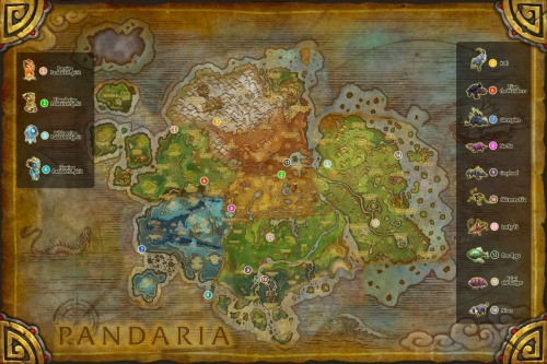 Pandaria Fable Beasts and Pandaren Spirits Map v2