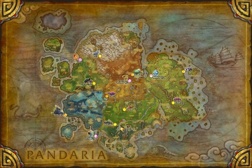 Pandaria Fable Beasts and Pandaren Spirits Map